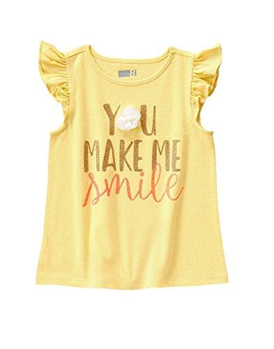Crazy 8 Baby Toddler Girls' Flutter Sleeve Tee, Pale Banana, 18-24 Months