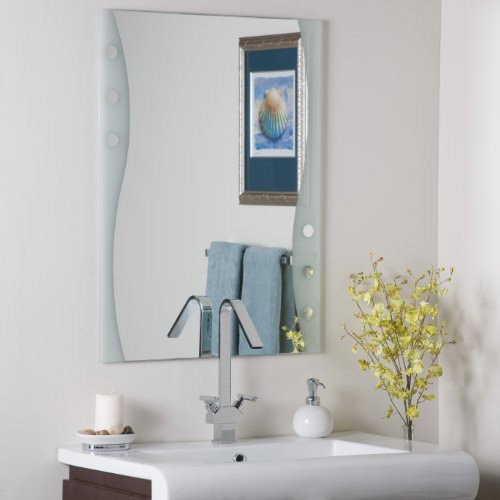 Decor Wonderland Frameless Maritime Wall Mirrorÿ (Unique Bathroom Vanity Mirrors)