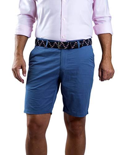 MOZZI Collezioni Men's Classic-Fit Cotton Twill Bermuda Shorts 32 French Blue MOZZI-B226