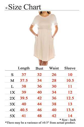 Dress Rayon Women's USA S Dolman Mustard 5X Doe Sleeve Basic Rounded J Mini Span Hem Style Size SPUw7