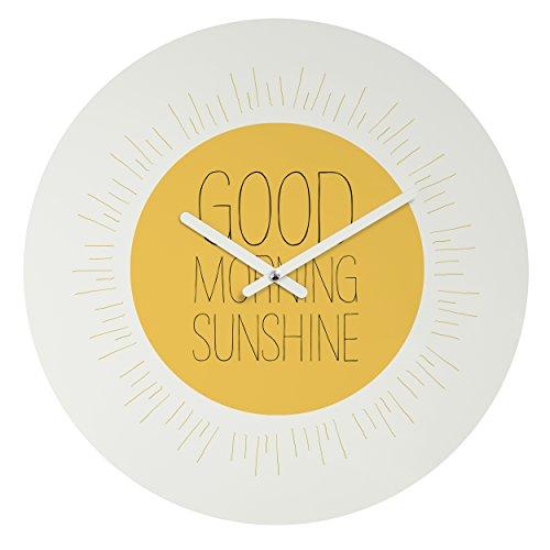Deny Designs Allyson Johnson, Morning Sunshine, Round Clock, Round, 12