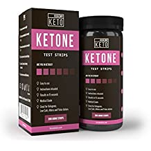 Kiss My Keto 200 Ketone Strips - Urine Test Sticks For Ketogenic, Atkins, Low Carb, Paleo, Diabetes Diets, Urinalysis Tester Kit, Monitor Weight Loss, Track Ketosis Levels By Measuring Fat Burning