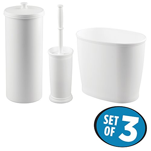 mDesign Toilet Wastebasket Bathroom Storage
