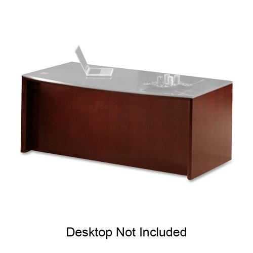Mayline Corsica Reception Desk Base - 72quot; Width x 36quot; Depth x 29.5quot; Height - Beveled Edge - Veneer, Wood - Cherry, Sierra Cherry by Mayline