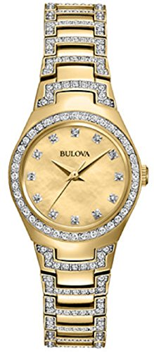 Bulova Women's 98L199 Analog Display Japanese Quartz Two Tone (Movement Two Tone Diamond)
