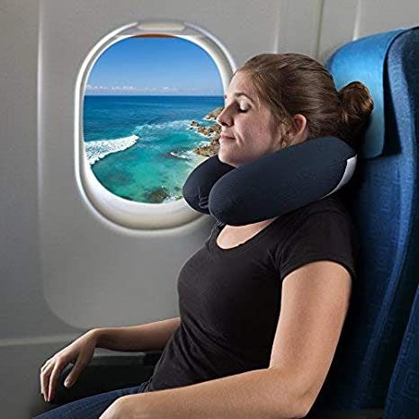Traveling 82-TEX1010 Airplanes Memory Foam Travel Pillow- With Gel That Cools for Head//Neck Support with Pillowcase for Sleeping Pink Trains by Lavish Home
