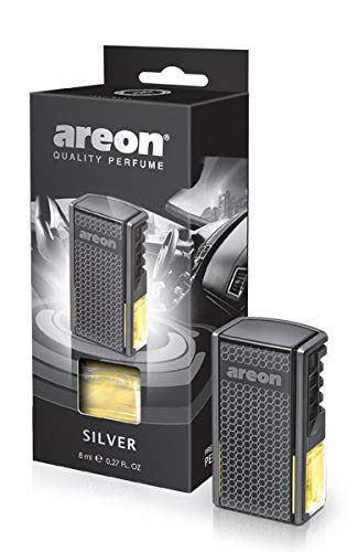Areon Car Perfume - Vent Clip Car A/C Freshener - Silver Scent - 8 ml. 0.27 Fl Oz.