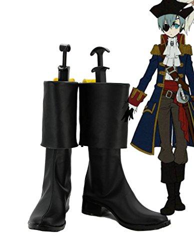 Black Butler 2 Kuroshitsuji Pirate Ciel Scarpe Cosplay Stivali Su Misura