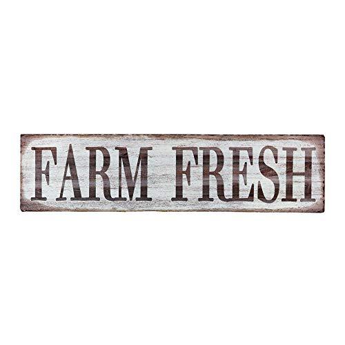Barnyard Designs Farm Fresh Retro Vintage Tin Bar Sign Country Home Decor 15.75″ x 4″