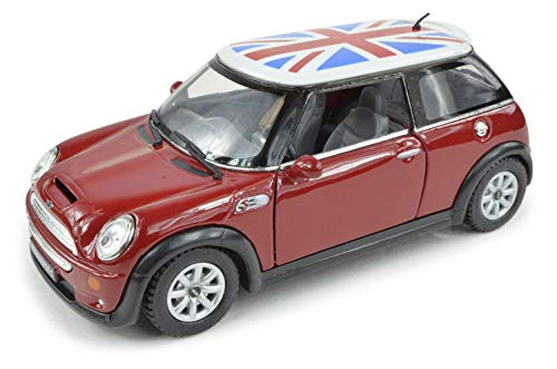 (Customize This 1:32 British Flag Mini Cooper S Sport Rally CAR - Red)