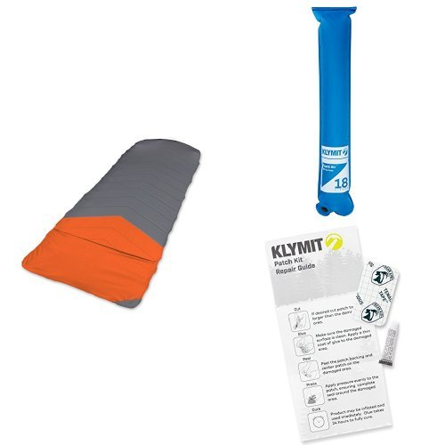 Sleeping Pad Accessories Bundle with Sleeping Pad Cover, Air Pump, and Patch Kit by Klymit