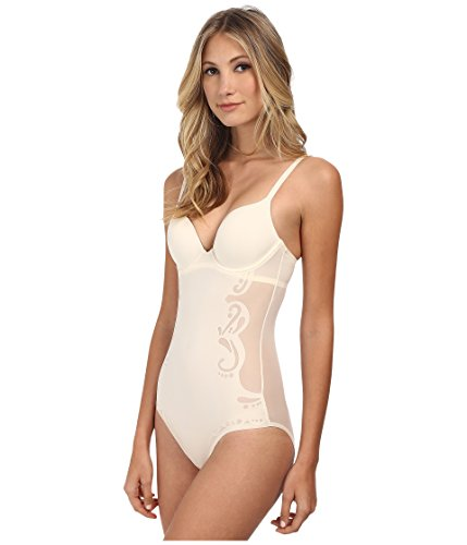 SPANX Women's Haute Contour Deco Sweetheart Panty Body SS0515 Pearlized White Body Shaper 34C