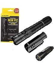 Value Bundle: Nitecore NEW P12 Tactical LED Flashlight - 1200 Lumens w/TIKI Mini LE Keychain Flashlight -300 Lumens