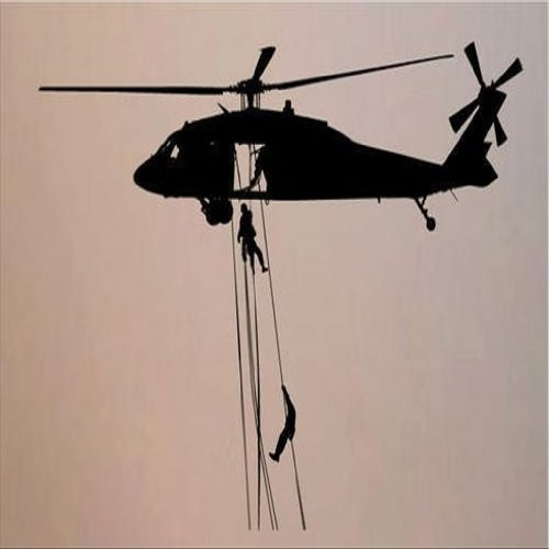 Dailinming PVC Wall Stickers Wall Sticker Decal Quote Vinyl Helicopter Military Guy Boys Army Room Decor Wall Quote 56X84CM