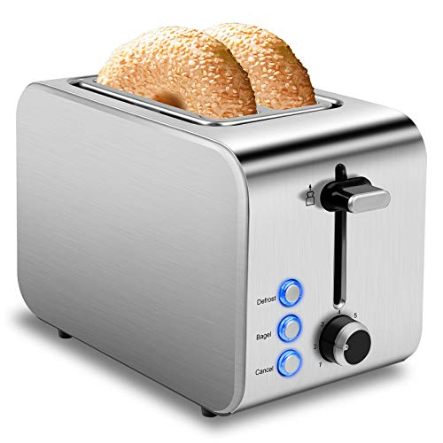 Toaster 2 Slice Best Rated Prime Toasters 1.5in Wide Slot Toaster 2 Slice Stainless Steel Toaster 7 Shade Settings…