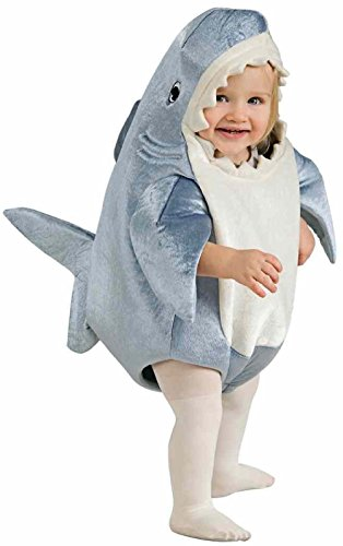 Cute One Year Old Boy Halloween Costumes (Shark Romper Toddler Baby Costume 2-4 Adorable Cute Ocean Fish Sea Halloween)