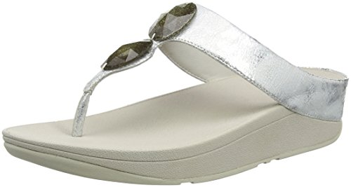 Fitflop Pierra, Chanclas para Mujer Plata (Silver)