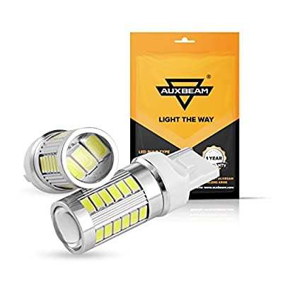 Auxbeam Extremely Bright T20 7440 W21W LED Bulbs 5730 Chipsets 33SMD light bulb Super White for Reverse Light, Back Up Light, Tail Light, Fog Light, Turn signals brake light (Pack of 2): Automotive
