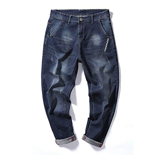 Dritti Blau Jeans Bassa Casual Giovane Denim Pantaloni A Yasminey Da Vita Di In Larghi Uomo Elasticizzati OAWYqZx