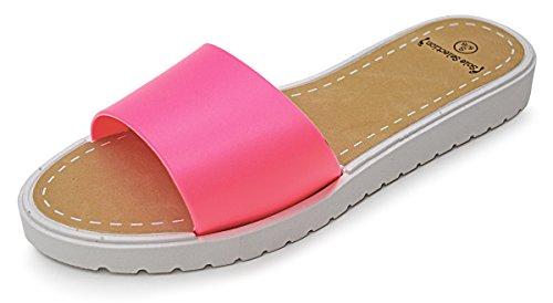101 Strand Kvinnor Glider Sandaler Rosa