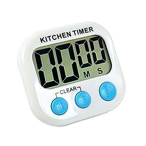 0aaafcb48bc2 Compra Szaerfa Cocina digital cocina gran LCD contador de tiempo abajo  hasta reloj alarma magnético en Amazon.es