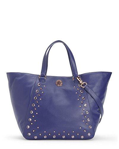 (Juicy Couture Hollywood Leather Tote Bag, Cobalt)
