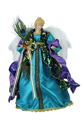 Windy Hill Collection 14 Inch Standing Stunning Sequin Angel Christmas Tree Topper or Table Top 14855