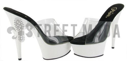 Sandal Delight C Women's Neon White NPP 601UV Platform Pleaser Clear 7p1aYqR