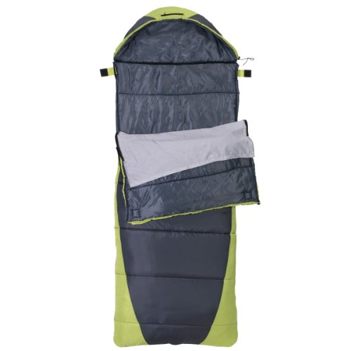 Rokk Sundance 3-Pound Comfort Top Sleeping Bag (Black/Green), Outdoor Stuffs