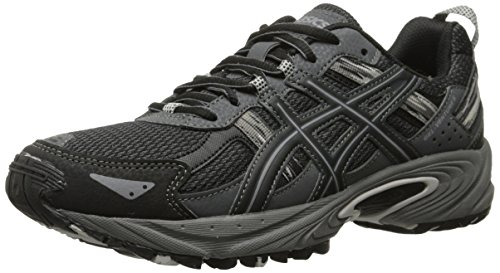Price comparison product image ASICS Gel Venture 5 GS Trail Running Shoe (Little Kid/Big Kid), Black/Onyx/Charcoal, 7 M US Big Kid