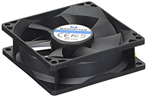 Manhattan 700955 - Ventilador de PC (Ventilador, 29 dB, Negro, De plástico, 0,15 A, -10 - 70 °C)