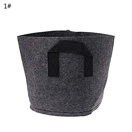Amazon.com: Macetero de fieltro, color negro, para jardín ...