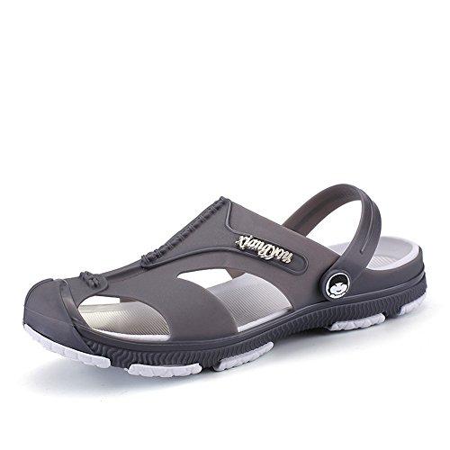da Qingqing per donna Pantofole in sport da uomo e unisex da esterno di da adatto per Color EU esterno 42 Sandali scarpe sandali assorbenti Gray pelle da sandalo sudore chiusi Gray Size YYdr1q