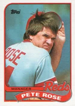 Amazoncom Pete Rose 1989 Topps Baseball Card 505 Collectibles