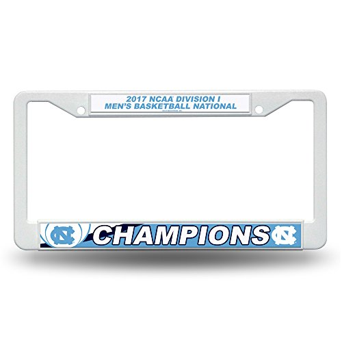 NCAA North Carolina Tar Heels 2017 Men's National Basketball Champions Plastic Plate Frame, Carolina Blue, White, 12-inch by (Frame Ncaa Mens Basketball)
