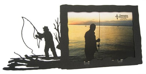 Fly Frames (Fly Fishing 5X7 Horizontal Picture Frame)