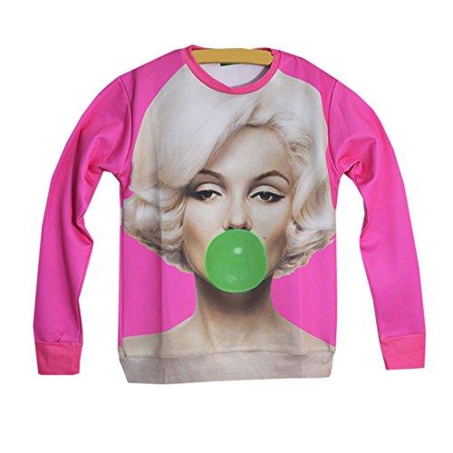 ff7a7e875b31 Women s Sweaters Pullovers Marilyn Monroe Print 3d Sweatshirt Hoodies (Pink