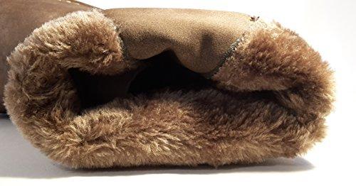 elegante alti Nero e senza Sti107 con Scarpe foderate invernali tempo moderno tacchi pelliccia Marrone o con Zip Stivali Stivali qnwRIA