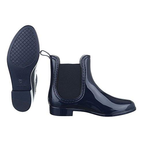 Ital-Design - Botas de agua Mujer azul oscuro