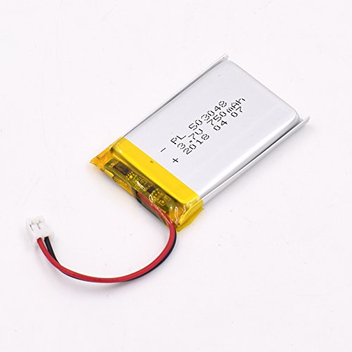 YDL 3.7V 750mAh 503048 Lipo battery Rechargeable Lithium Polymer ion Battery Pack with JST (750 Mah Lithium Battery)