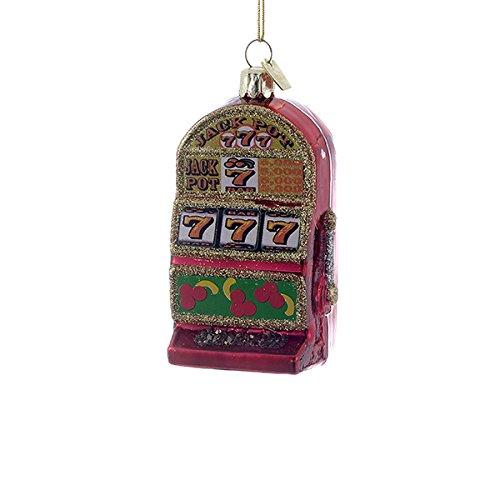 Kurt Adler 3-1/2-Inch Noble Gems Glass Slot Machine (Casino Ornaments)