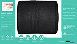 Lumbar and Back support pressure Relieving Cushion, Black