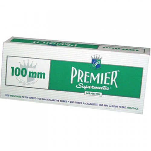 Premier Supermatic Cigarette Machine (PREMIER SUPERMATIC FILTERED CIGARETTE TUBES 200 FITLERS 100MM PACK OF)