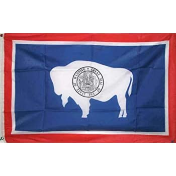 2x3 Feet Wyoming State Flag Polyester With 2 Grommets
