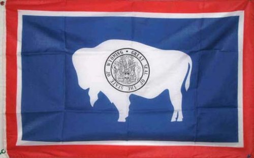 2x3 Feet Wyoming State Flag Polyester With 2 Grommets (State Wyoming Flag)