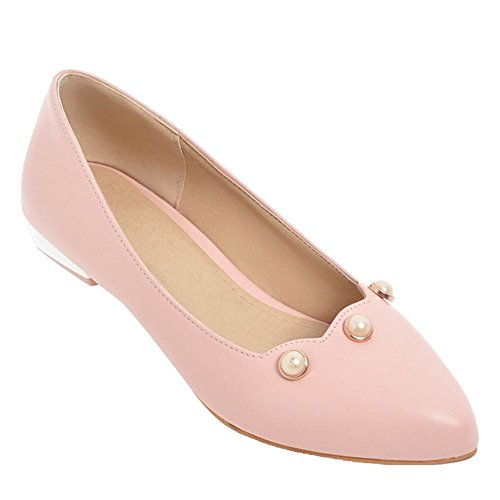 Womens Toe Shoes Foot Pink Low Cute Charm Pumps Heel Pointed n5IRSAxq8