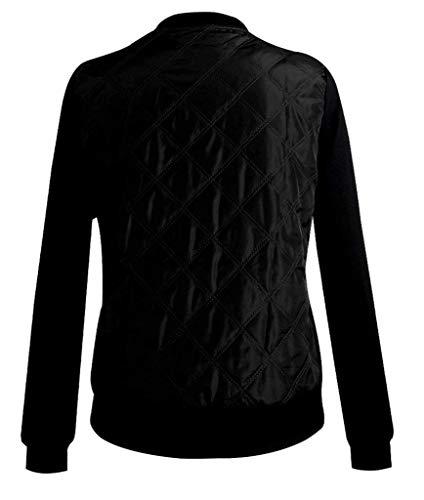 Donna Cerniera Coat Giacca Outwear Di Coreana Con Marca Cappotto Laterali Collo Elegante Moda Bomber Invernali Manica Schwarz Lunga Corto Mode Giovane Tasche Zqq54