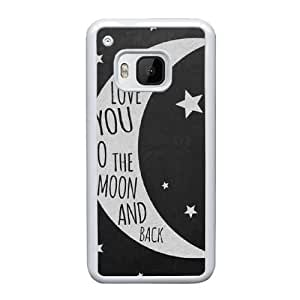 HTC One M9 Cell Phone Case White To The Moon And Back AS7YD3560508