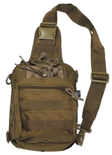 MFH COMBAT TACTICAL SHOULDER BAG WITH MOLLE ATTACHMENTS COYOTE TAN