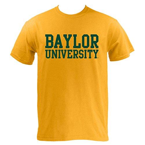 Block Baylor University Bears Basic T-Shirt - X-Large - Gold